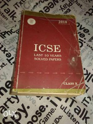 Icse Last 10 Years Solved Papers Book