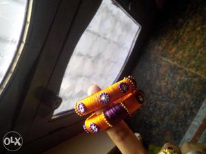 Low cost handmade thread bangle's
