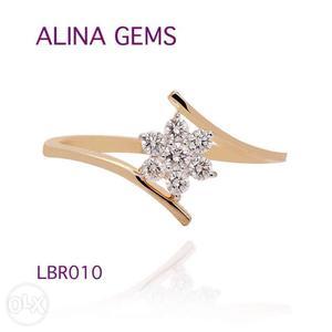 Real Diamond Ring for her,18kt hallmark Genuine