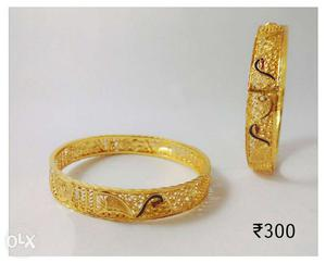 Two artificial Bangle Bracelets