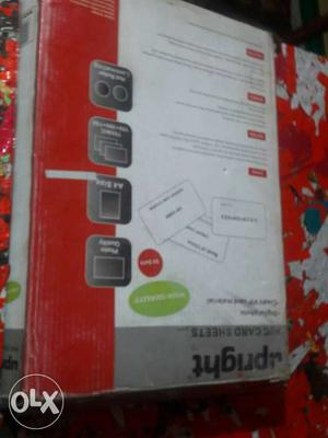 Upright Card Sheets Box