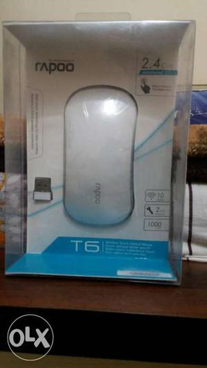White Rapoo T6 Wireless Touch Optical Mouse,