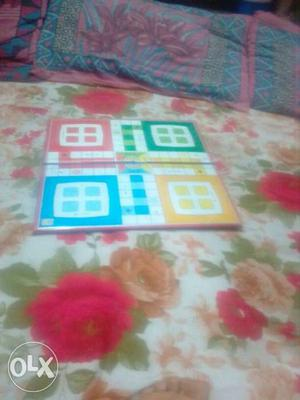 White, Yellow, Blue, And Green Gameboard
