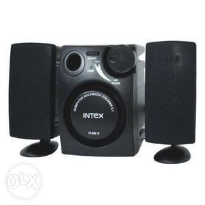 Black Intex Multimedia Speaker