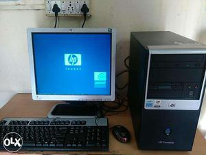 "HP Desktops For Sell Branded Dual core rs. with 17""LCD"