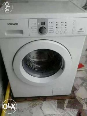 White Samsung Front Load Washing Machine