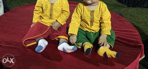 7-9 months twin boys kurti and dhoti bought from