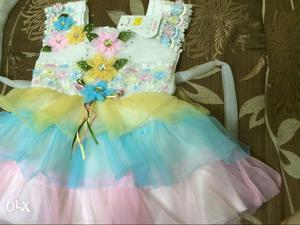 Baby girl new dresses party wear at throw Away