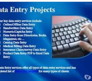 Data Entry Projects Available Jaipur