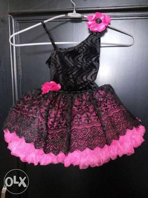 Party wear frock/dress for 1 to 2 year baby girl