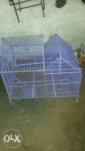 Purple Steel Birdcage