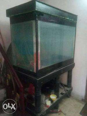 Fish Tank With stand and top cover sale. size h