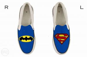 BRAND NEW Superhero hand-painted shoes UK 7 for Kids(15cm)