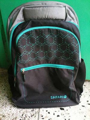 Black And Teal Safari Backpack