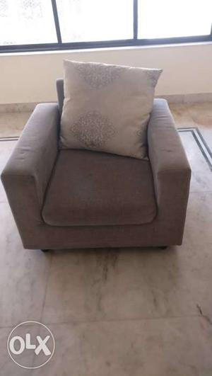 3 year old 3 + 1 +1 seater sofa set up for sale at a throw