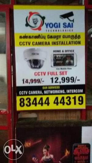 Cctv camera installation 1mp ir day night camera
