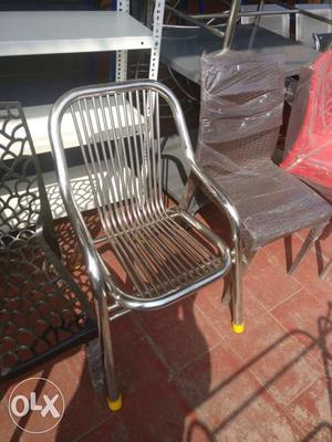 Chair stainless steel perfect for office and home.