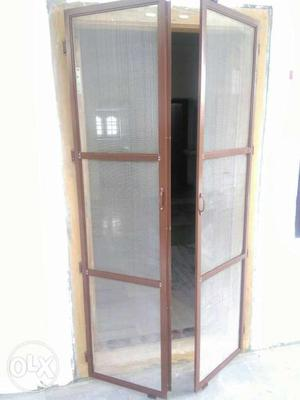 Mosquito nets for doors and windows with metal