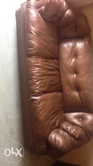 Three seater leatherite sofa