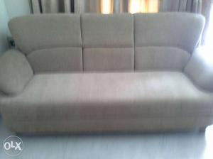 Two three seater sofas, almost new. Beige