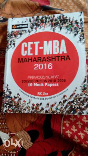 Book for MBA Cet, I scored 72 percentile with