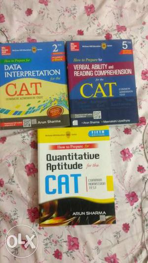 CAT Preparation books and complete set of BYJU work books