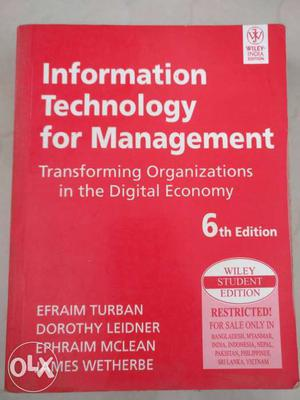 Information Technology For Management Book