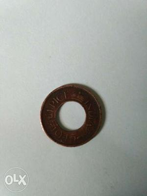 One pice indian coin of