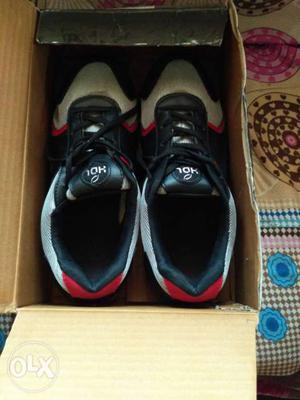 Black-red-white Air Jordan Basketball Shoes In Box