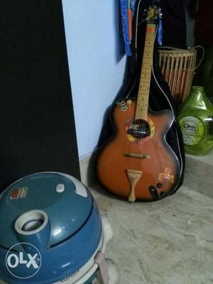 Fender acoustic and semi electric guitar with