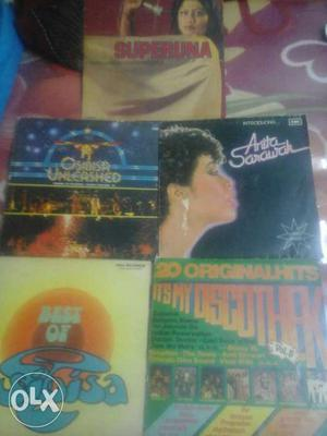 Five english vinly record in mint conditions with