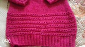 Full size woolen hand made seeater for girls or