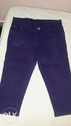 Party wear half pant color-purple size-34 in very