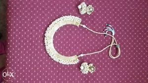 Pearl elegant necklace ethnic wear