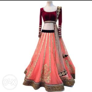 Top selling mastani pink new designer lehenga choli for