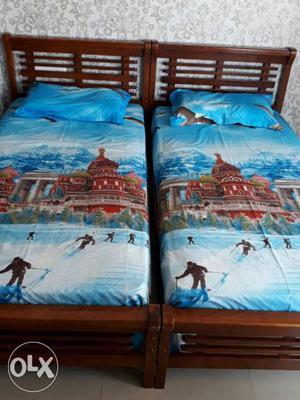 Brown Malaysian wood Bed