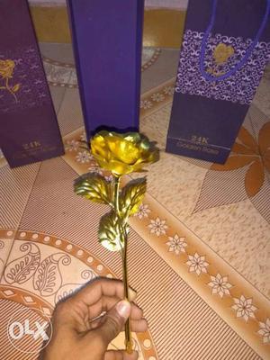 Gold Rose Flower