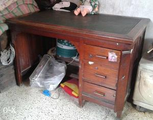 Burma teak office table in excellent condition -