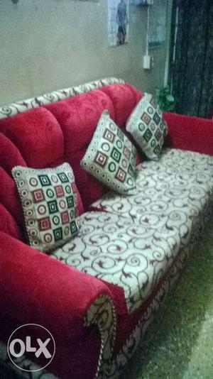 5 sitter sofa set with cover in a very good