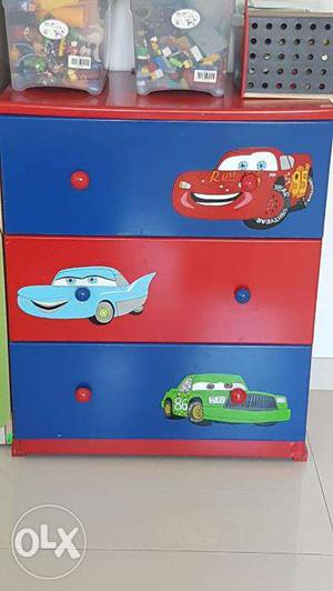Cars catoon chest of drawers for kids room
