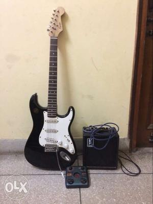 Squier electric guitar with kiko distortion