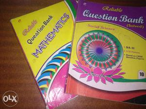 Two Question Bank Mathematics And Social Science Textbooks