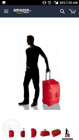 American tourister polyster red duffle bag 67 cm