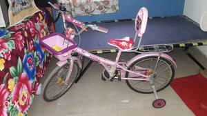Toddler's Pink Bicycle With Training Wheels