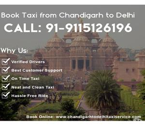 Best Chandigarh to Delhi Taxi Services at genuine price
