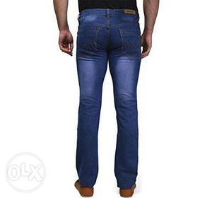 Men's Blue Acid Wash Denim Jeans