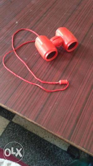 Pink Plastic Binoculars