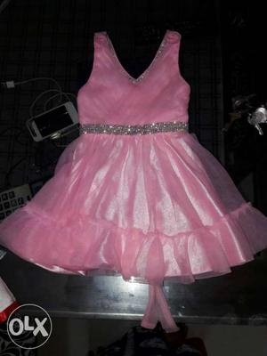 1 time used partywear frock for 1 to 2 yrs girl