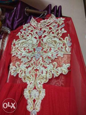 Brand new heavy party wear n wedding gown with