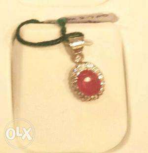 New real ruby pendant with real silver